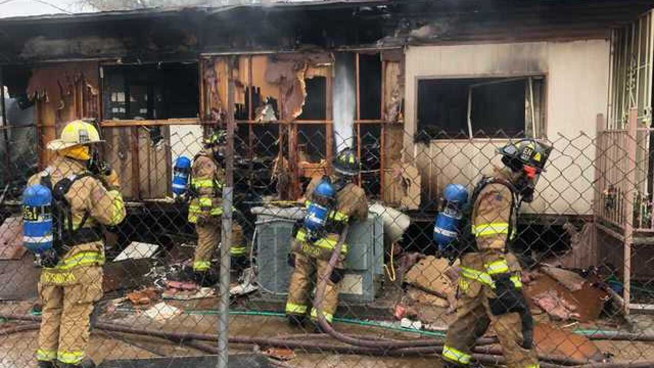 House fire causes lane restrictions on Wetmore
