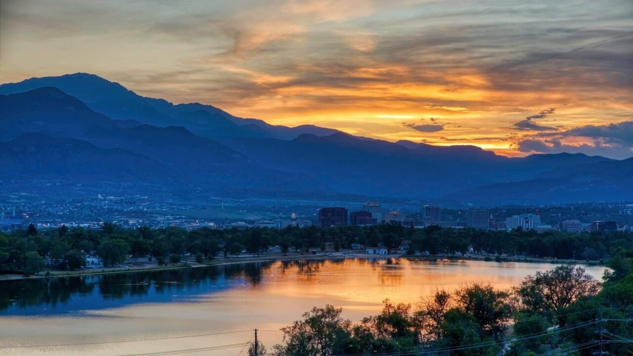 Larry Marr Colorado Springs sunset