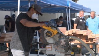 Valley non-profit building beds for children without them
