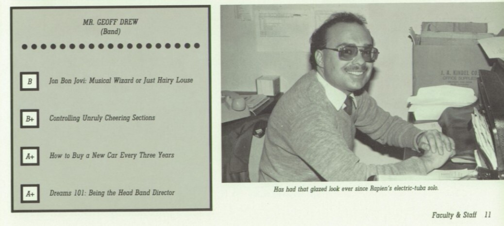 Geoff Drew once taught at Elder High School.