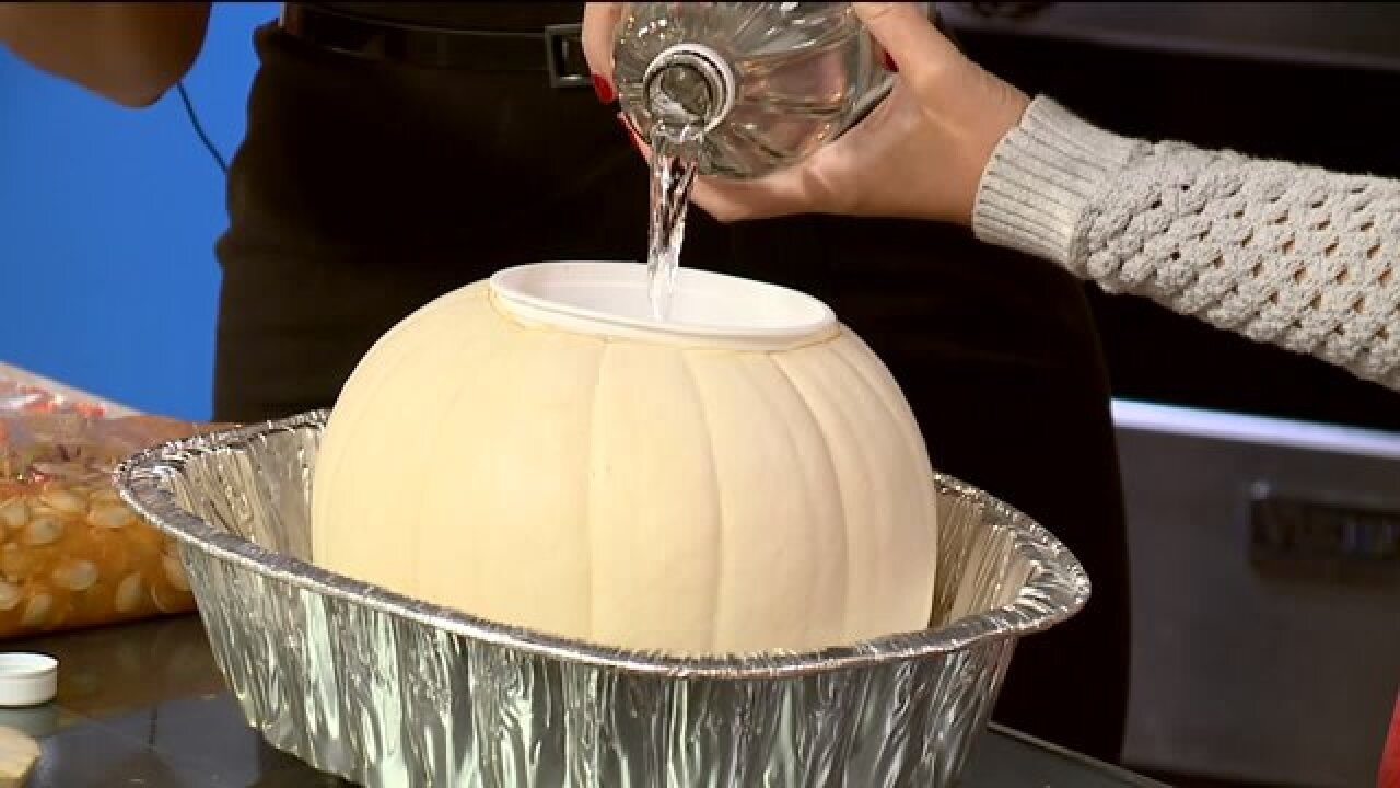 Learn how to make your own pumpkin volcano at home with 3 simpleingredients!