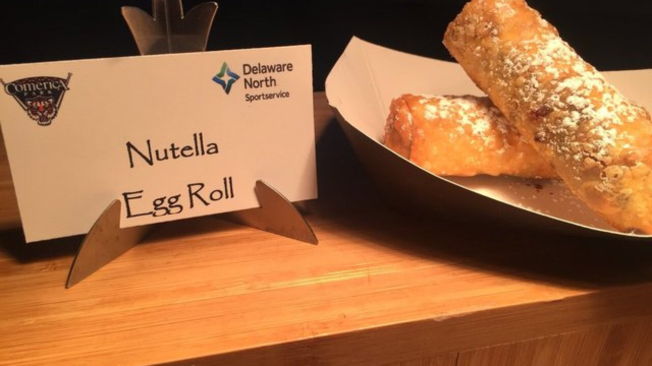 New food at Comerica Park includes Nutella egg rolls, donut ice cream sandwich