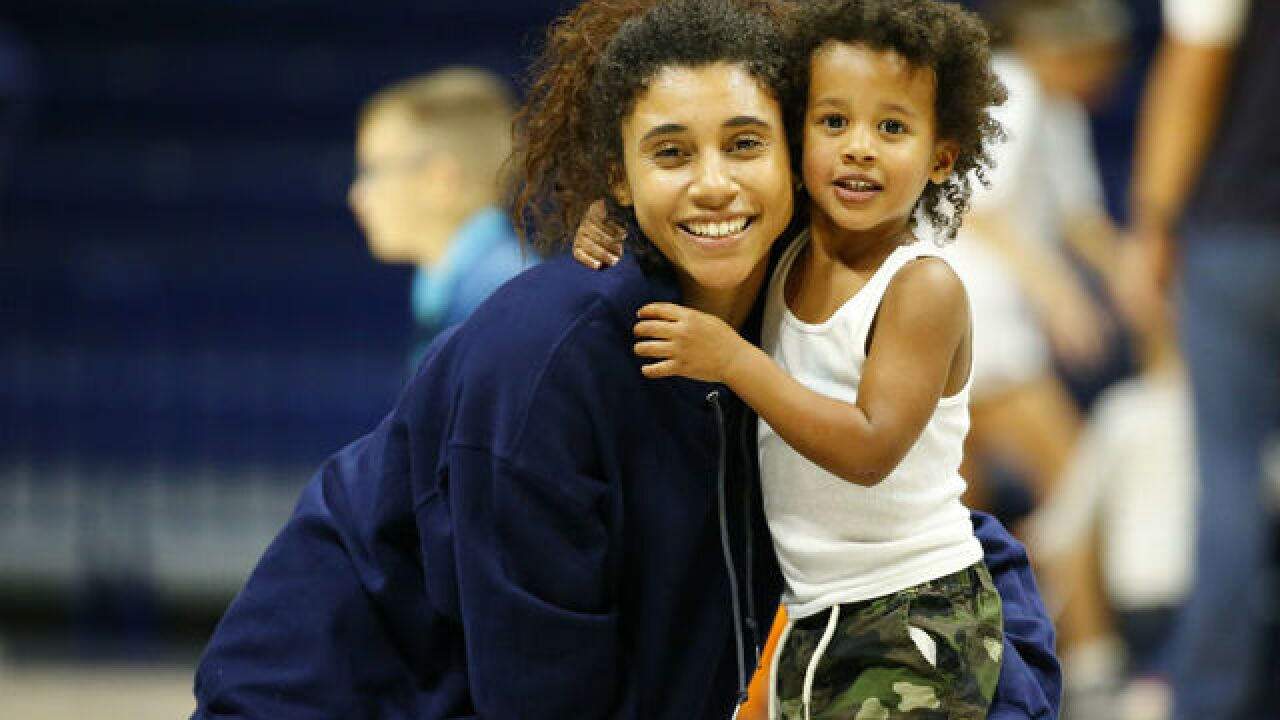 To be a mom or athlete? Xavier star chose both