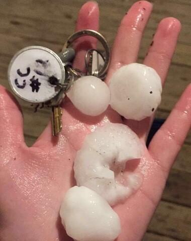 GALLERY: Hail throughout Omaha metro, June 29