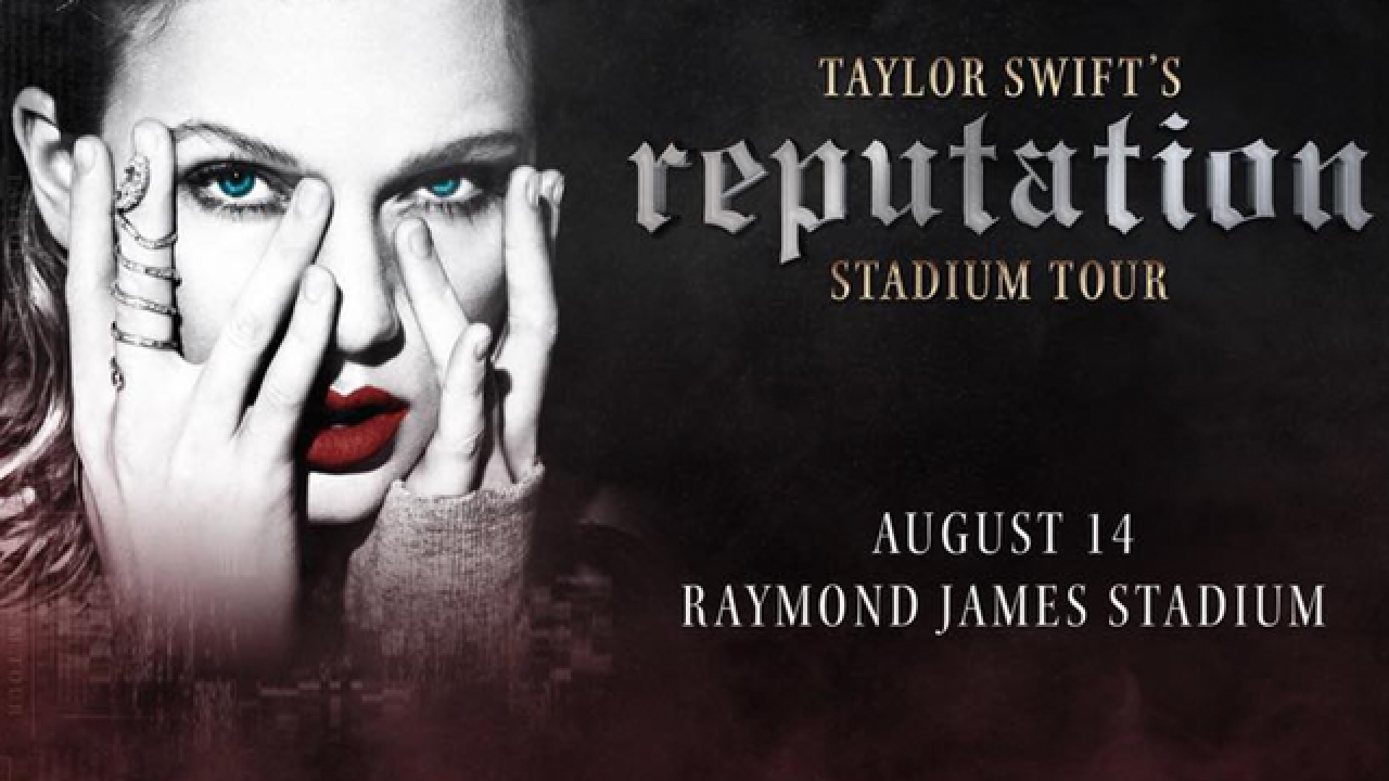 Taylor Swift brings 'reputation' Stadium Tour to Tampa's Raymond James Stadium in 2018
