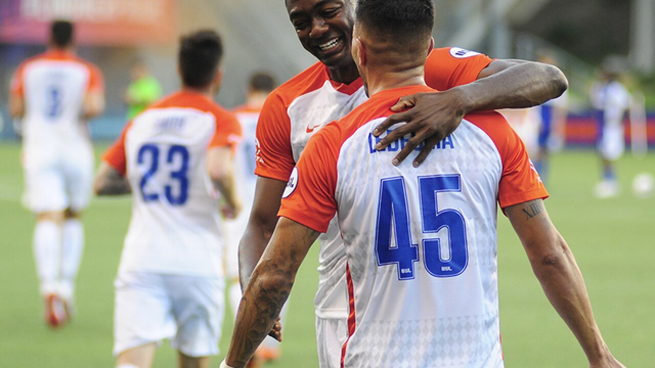 FC Cincinnati's Fanendo Adi is adjusting to playing in the USL after years in MLS