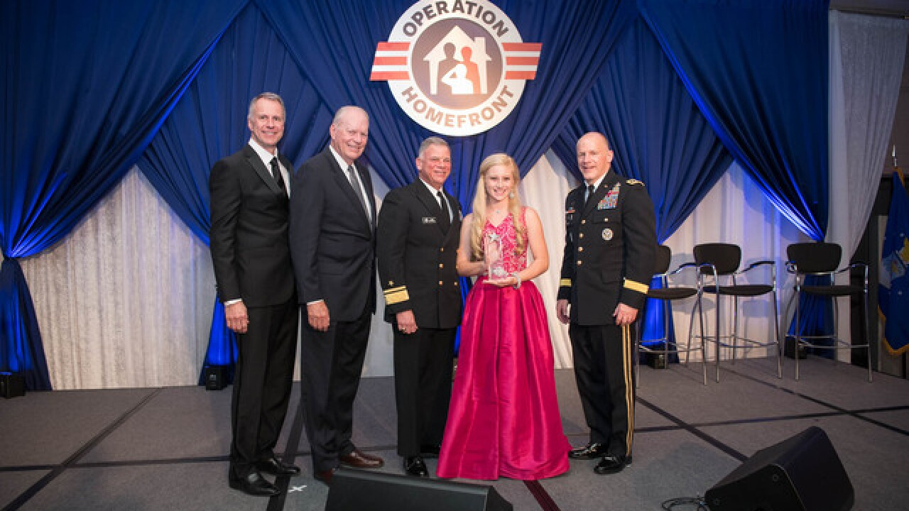 High Tech student award Navy child of the year