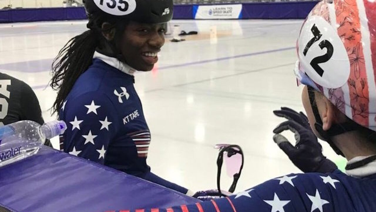 Olympic speed skater Maame Biney wants to win gold. She's already won hearts