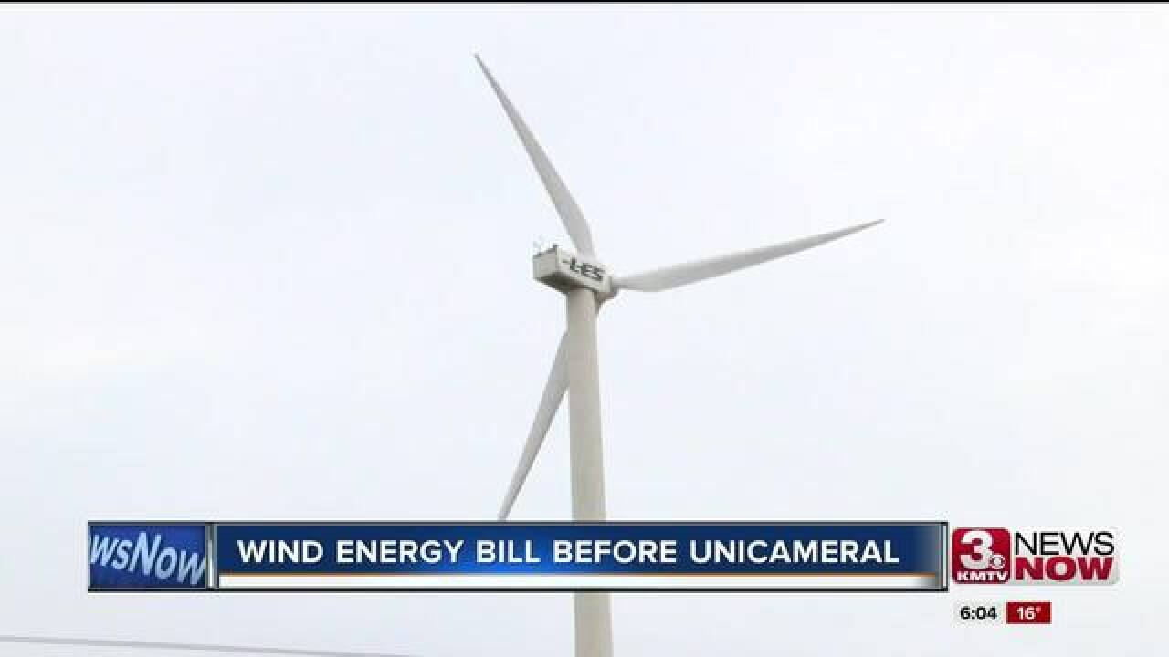 Nebraska Legislature hears wind energy bill