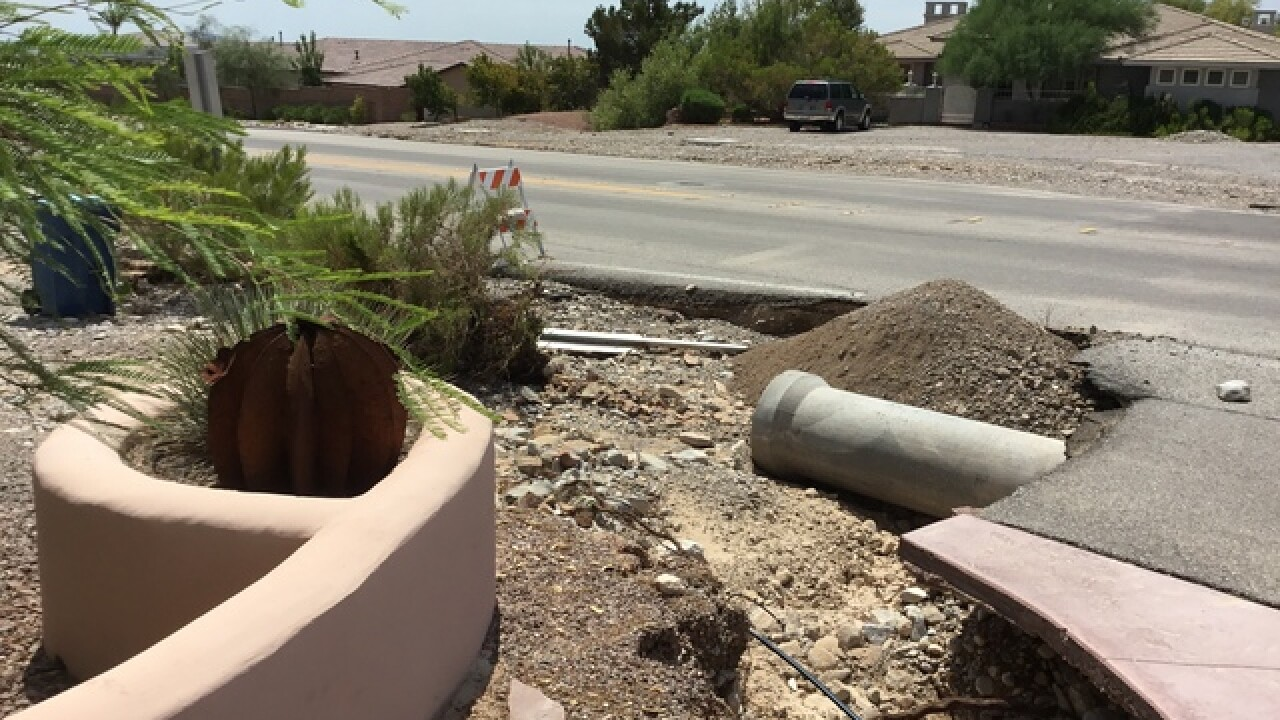 Monsoon nightmare for woman in NW Vegas