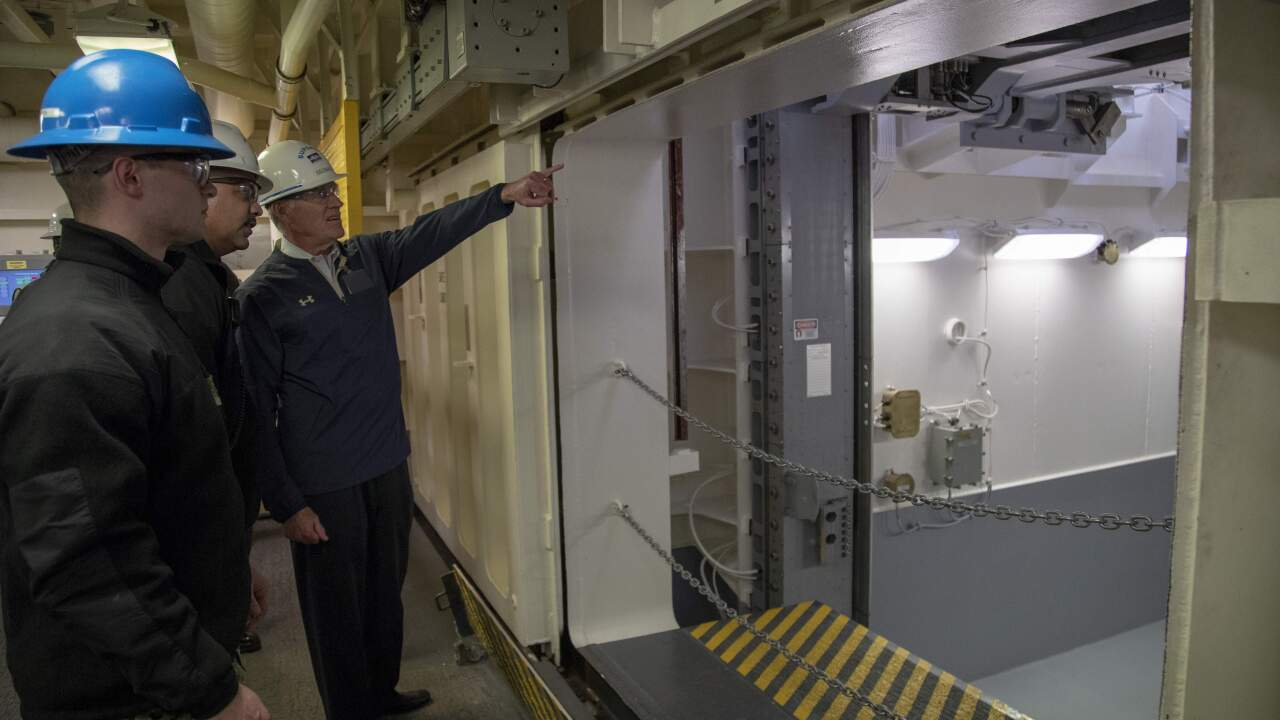 Navy brings in outside team of experts to help fix weapons elevators on USS Gerald R.Ford