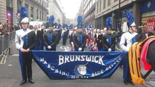 Brunswick High School marching band in London