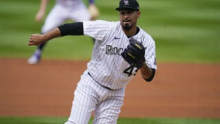 Colorado Rockies starting pitcher Antonio Senzatela