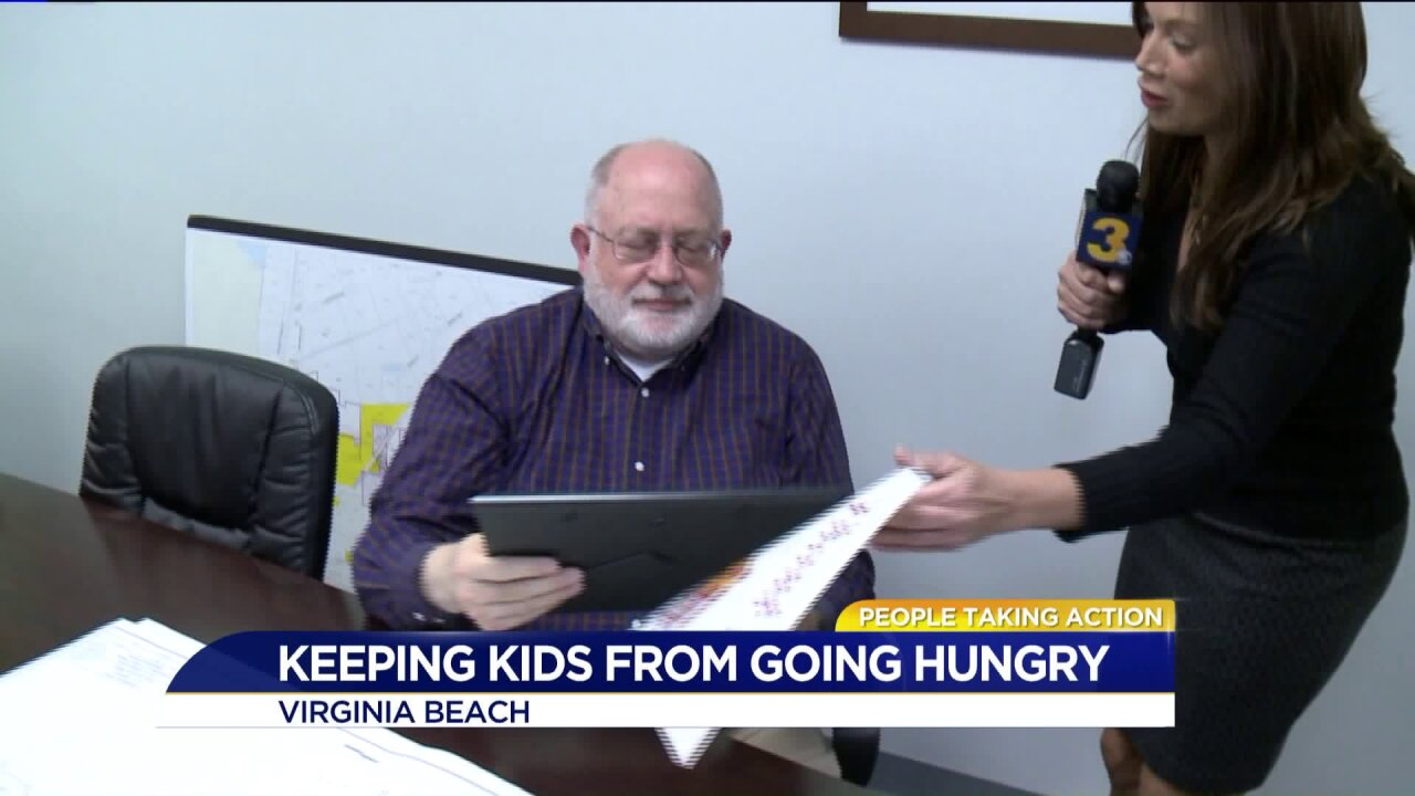 Virginia Beach man 'engineers' a way to feed hungry kids in his community