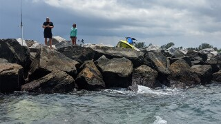 Personal water craft crash on Saturday, July 24, 2021 at the Palm Beach Inlet
