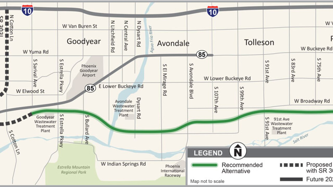 Map Of Loop 303 Arizona.Plans Advance For New Highway In Southwest Metro Phoenix