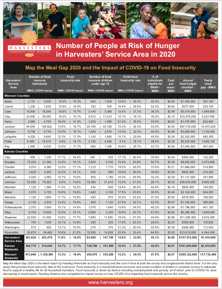 Harvesters food security report