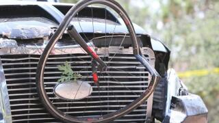 APTOPIX Bicyclists Struck Driver Shot
