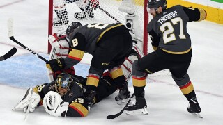 Theodore ends holdout, agrees to 7-year deal with Golden Knights