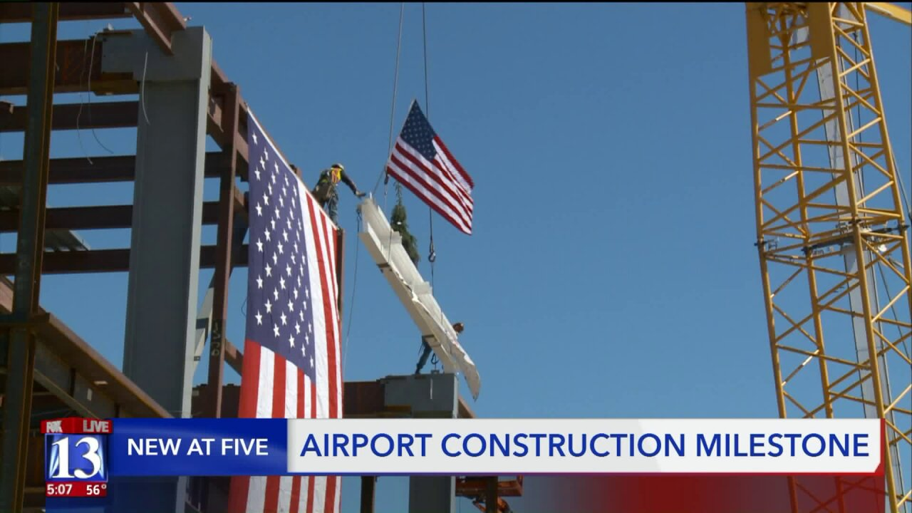 'Topping off' ceremony marks transition for Salt Lake City International Airport construction