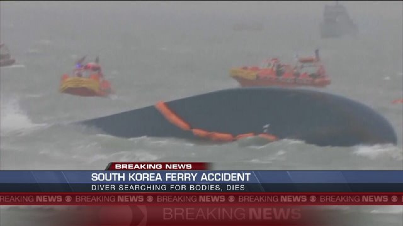 Korean diver dies during ferry search