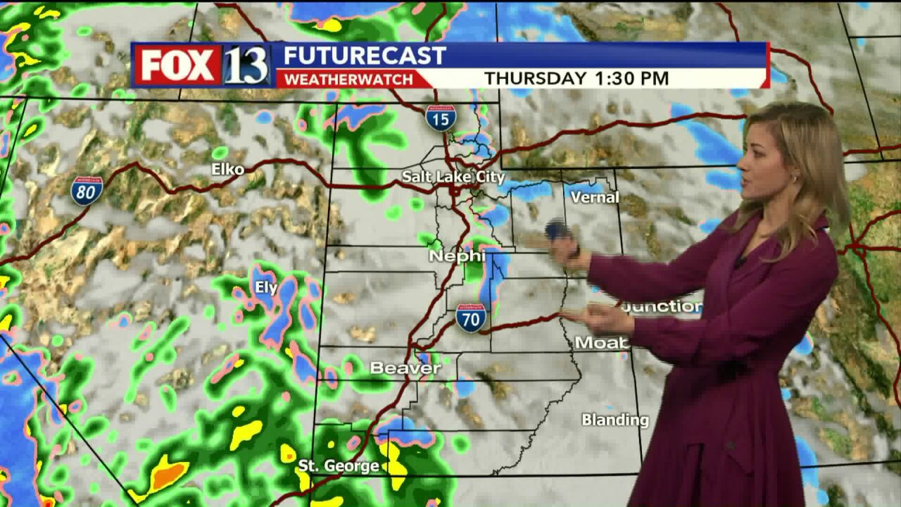 Storm headed to Utah, bringing rain and snow mixture to central, northern part of state