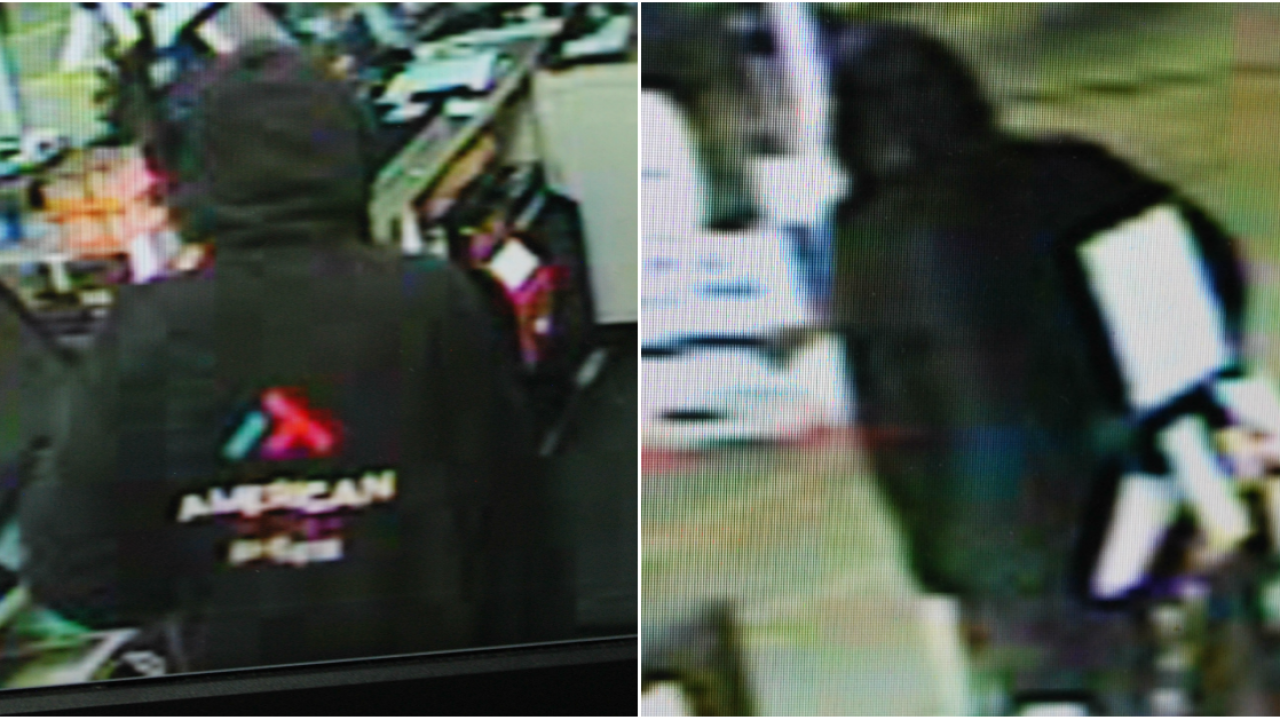 Photos show armed robbery suspect at Chesterfield gasstation