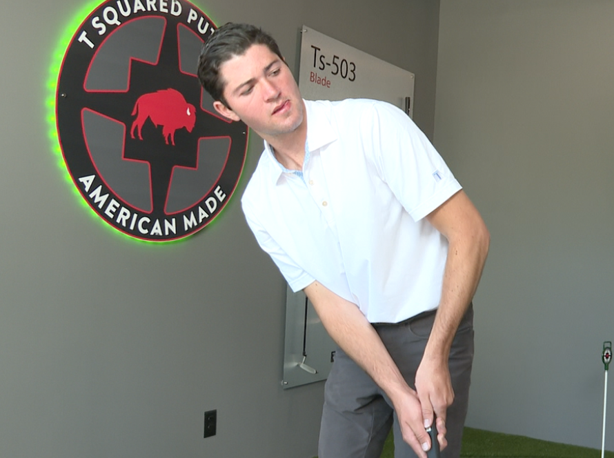 19-year-old Tony Tuber has been golfing for 14 years