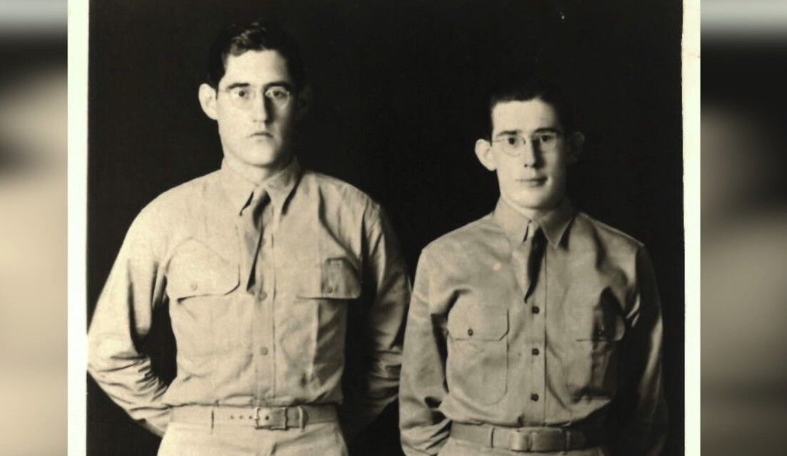 Wayne Evans (left) and brother Robert Evans
