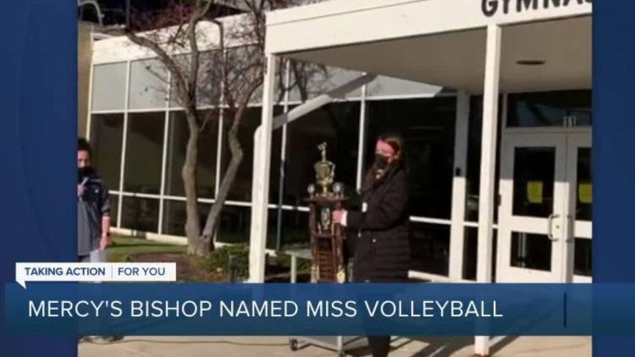 Mercy Julia Bishop 2020 Miss Volleyball