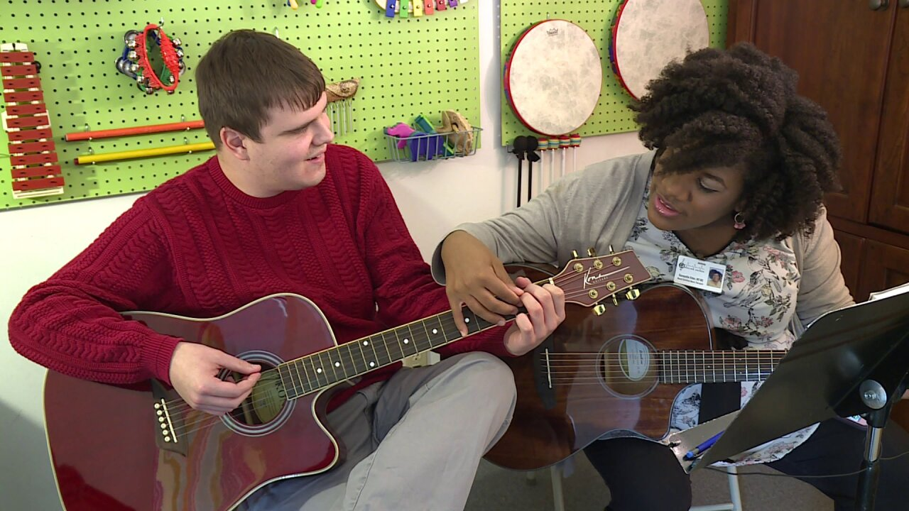 Man with autism's music therapy 'journey' is 'amazing to watch'