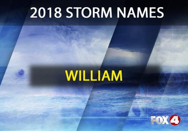 Storm names for the 2018 hurricane season