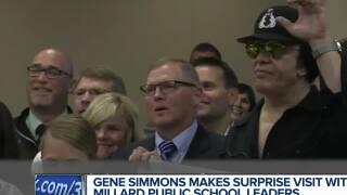 Gene Simmons visits Millard Public Schools