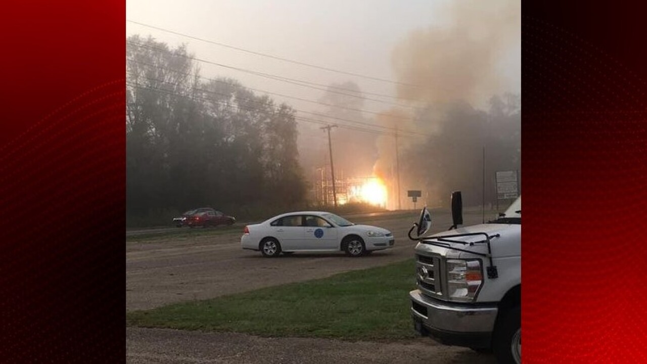 Fire at substation Opelousas.jpg