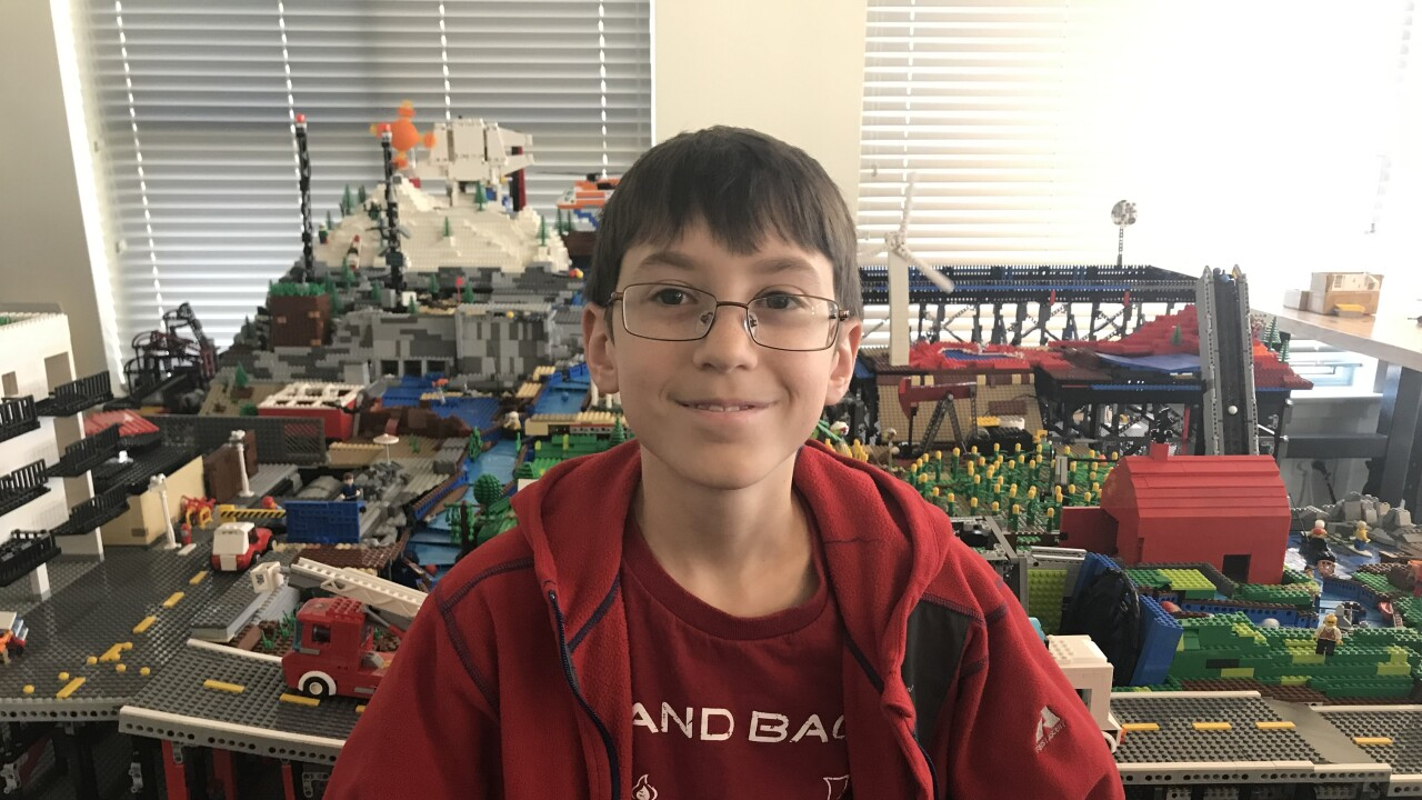 Fort Collins boy builds masive Lego model representing the Hydrologic cycle