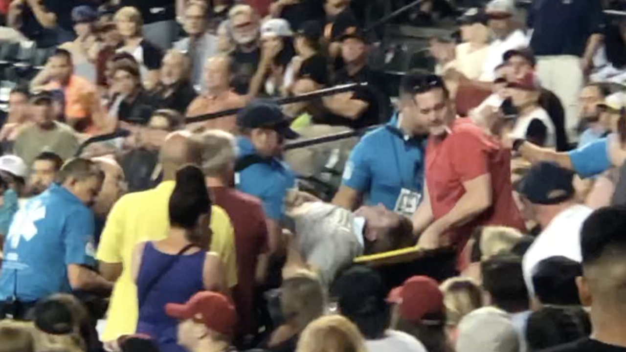 Woman gives CPR to D-backs fan