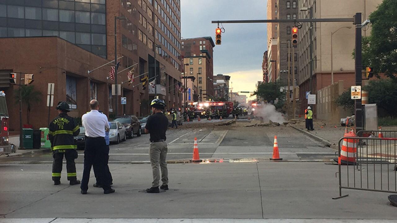 Fire activity on S. Eutaw Street