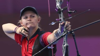 Mackenzie Brown comes within one shot of archery medal