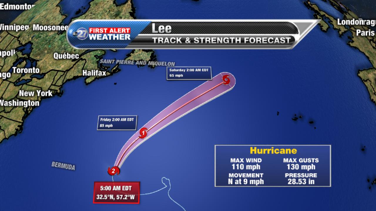 Hurricane Lee Forecast track (5am 09/28/2017)