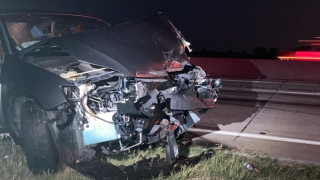 Driver injured after running into MoDOT truck