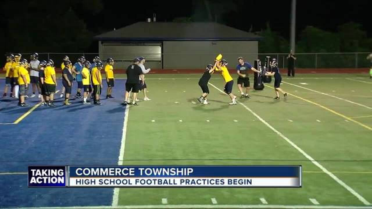 High school football season returns