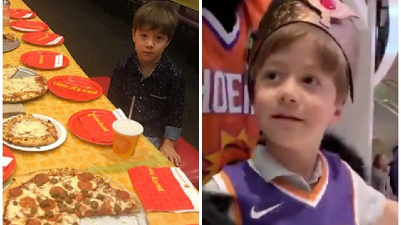 Boy Who Had No One Show To Birthday Party Gets Royal Treatment By Suns Coyotes