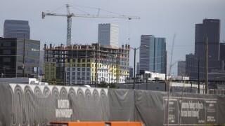 denver june 2020 covid-19 coroanvirus apartment construction crane