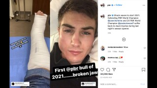 PBR Instagram - Jess Lockwood injury
