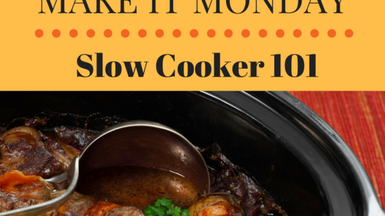Use slow cookers for an easy family meal time