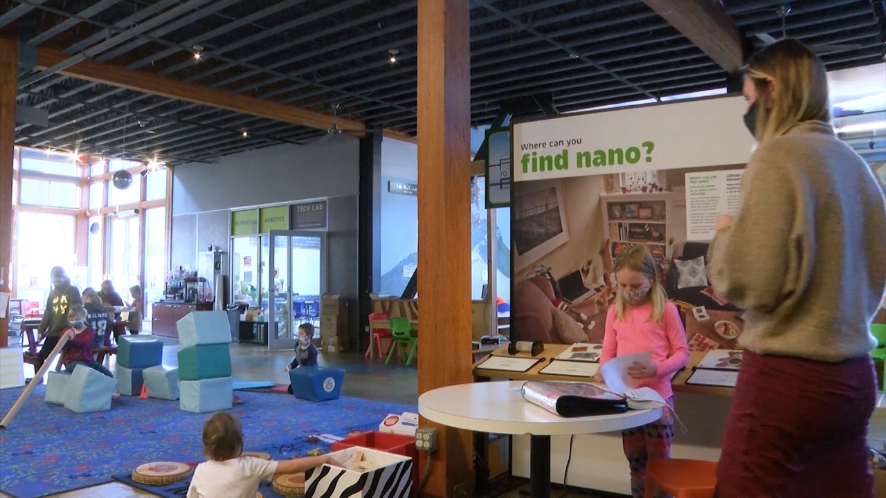 ExplorationWorks providing child care for health care workers