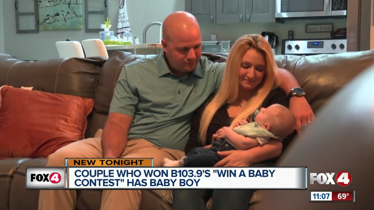 'Win a Baby' contest winners have a boy