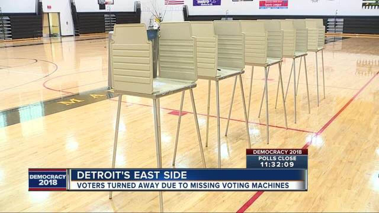 Polling problems at Detroit high school