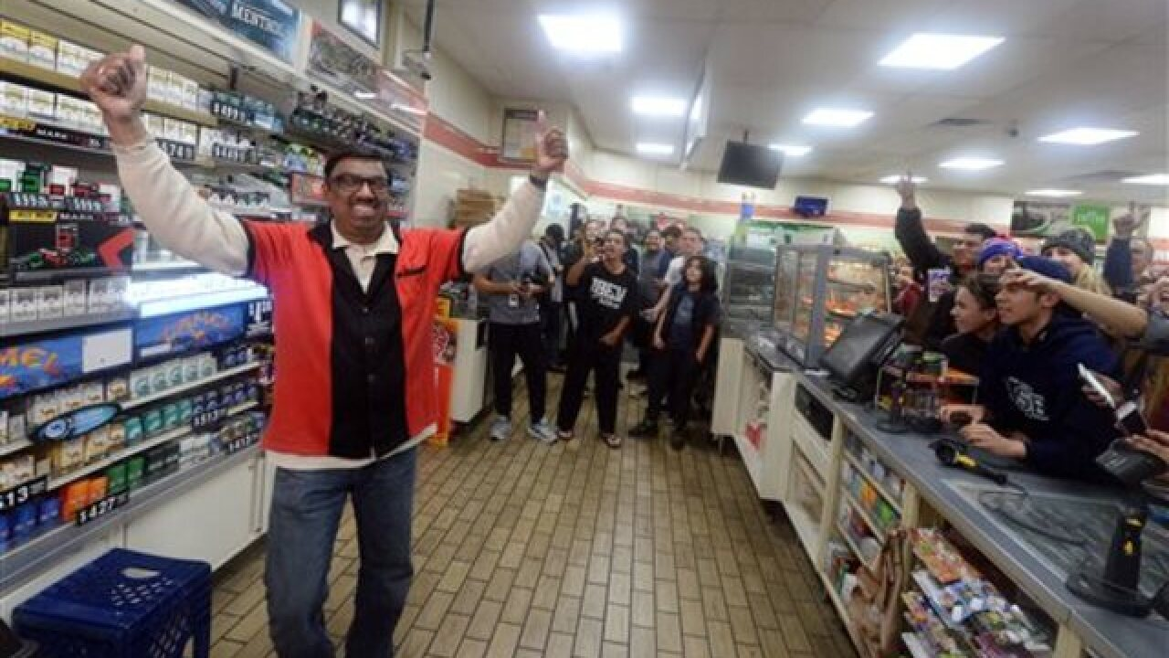$1.6B Powerball split 3 ways, in CA, FL & TN
