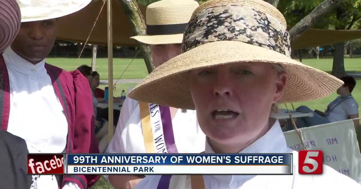 Group celebrates anniversary of women gaining the right to vote